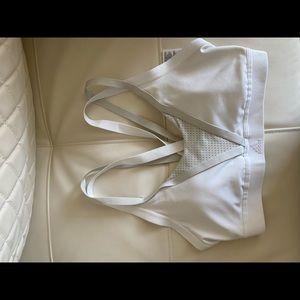 Adidas White L Sportsbra